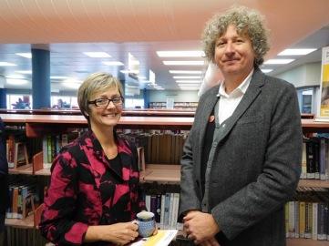 Cr Janelle Culverson with Dr Scott Fitzpatrick